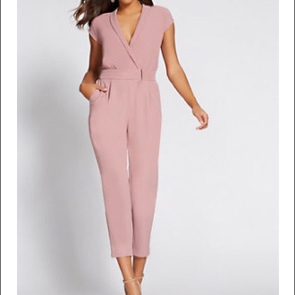 3bea382a077 Blush 💗 Gabrielle Union collection wrap jumpsuit.  M 5b786bd08869f7fbc7f90a90